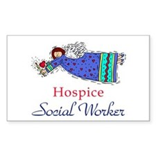 Hospice SW Angel Rectangle Decal