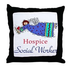 Hospice SW Angel Throw Pillow