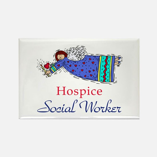 Hospice SW Angel Rectangle Magnet (10 pack)