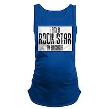 Rock Star In Ankara Maternity Tank Top