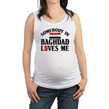 Somebody In Baghdad Maternity Tank Top