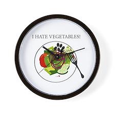 I hate vegetables! Clock