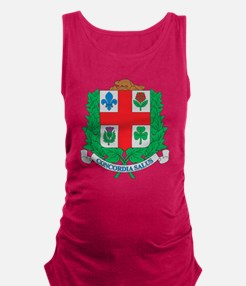 Montreal Coat Of Arms Maternity Tank Top