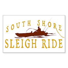 South Shore Sleigh Rides Rectangle Decal
