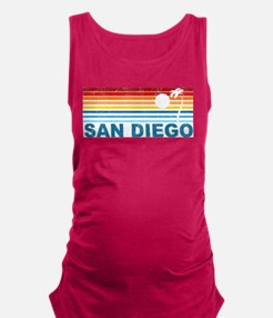 Palm Tree San Diego Maternity Tank Top
