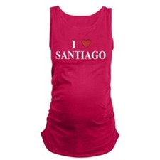 I Love Santiago Maternity Tank Top
