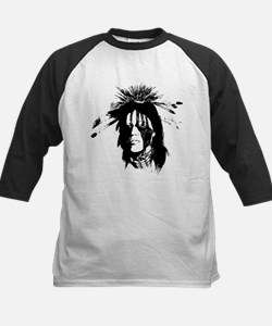 American Indian with Painted Face Kids Baseball Je