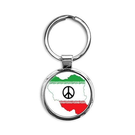 Don't Bomb Iran, Man Round Keychain