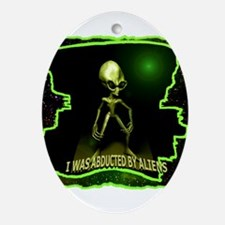 Alien Abduction Ornament (Oval)