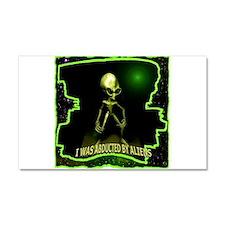 Alien Abduction Car Magnet 20 x 12