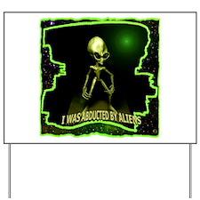 Alien Abduction Yard Sign