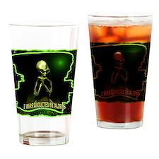 Alien Abduction Drinking Glass