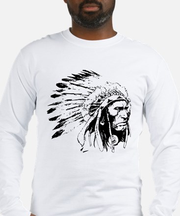 Native American Chieftain Long Sleeve T-Shirt
