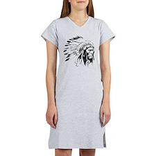 Native American Chieftain Women's Nightshirt