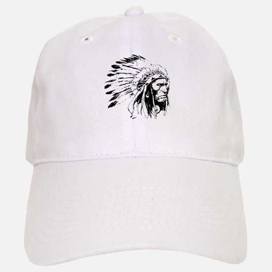 Native American Chieftain Baseball Baseball Cap