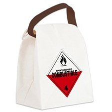 Spontaneously Combustible Warning Canvas Lunch Bag