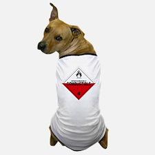 Spontaneously Combustible Warning Sign Dog T-Shirt