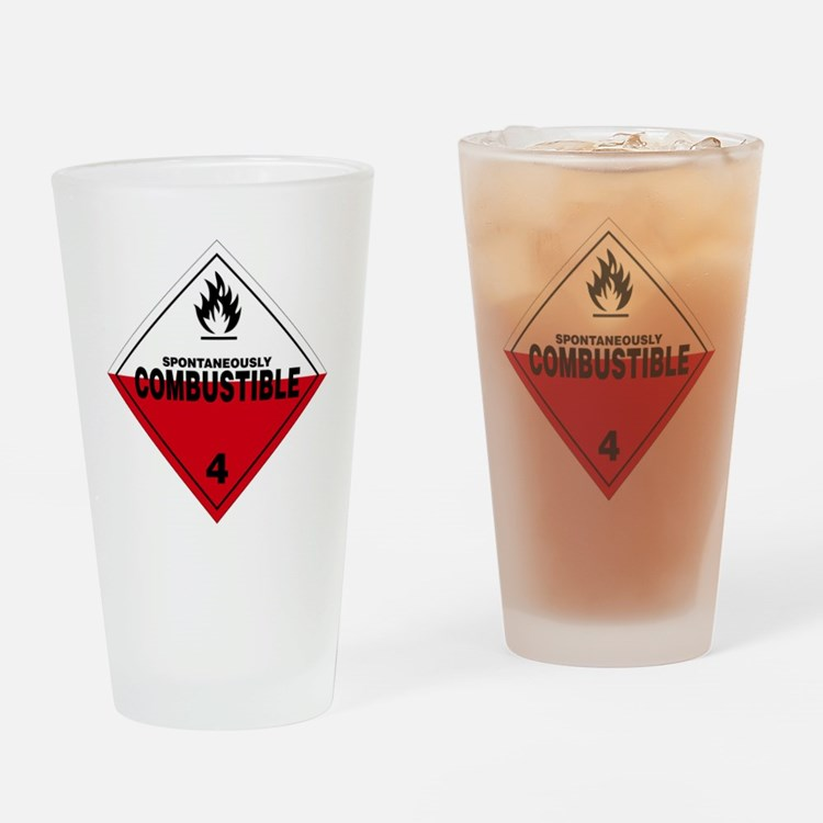 Spontaneously Combustible Warning S Drinking Glass