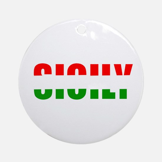 Sicily Ornament (Round)