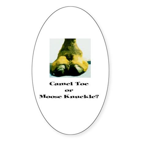 CAMEL TOE or MOOSE KNUCKLE Oval Sticker