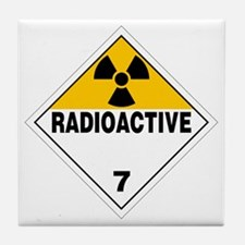 Radioactive Warning Sign Tile Coaster