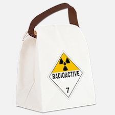 Radioactive Warning Sign Canvas Lunch Bag