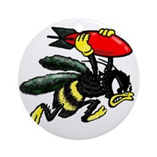 WWII Bee Bomber Round Ornament