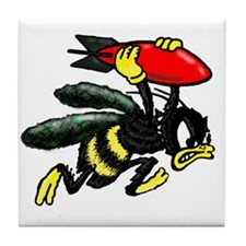 WWII Bee Bomber Tile Coaster