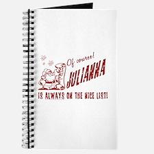 Nice List Julianna Christmas Journal
