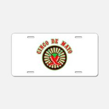 Cinco de mayo w pepper seal Aluminum License Plate