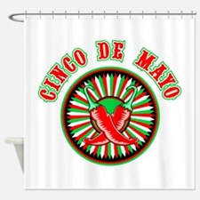 Cinco de mayo w pepper seal Shower Curtain