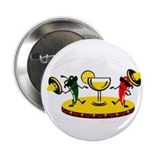 "Dancing peppers with drink 2.25"" Button (10 pack)"