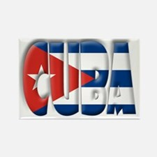 Word Art Flag of Cuba Rectangle Magnet