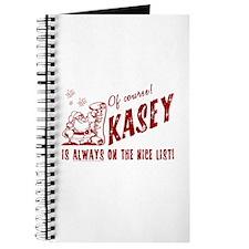 Nice List Kasey Christmas Journal