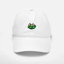 green peppers in green flame graphic Baseball Baseball Baseball Cap