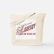 Nice List Kassidy Christmas Tote Bag