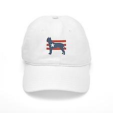 Patriotic American Staffordshire Terrier Baseball Cap