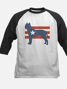 Patriotic American Staffordshire Terrier Tee