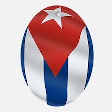 Pure Flag of Cuba Oval Ornament