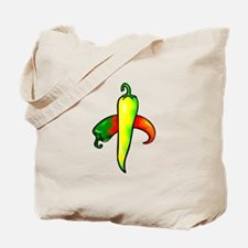 two peppers one yellow Tote Bag