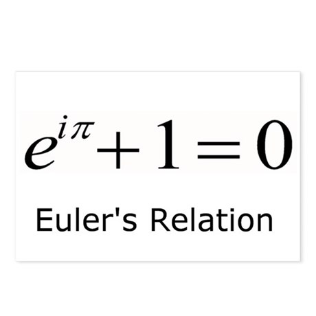 Euler's Relation Postcards (Package of 8)