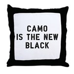 Camo Is The New Black Throw Pillow