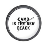 Camo Is The New Black Wall Clock