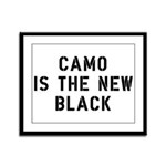 Camo Is The New Black Framed Panel Print