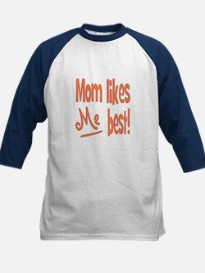 Mom Best Kids Baseball Jersey