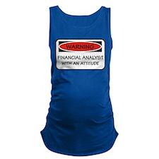 Attitude Financial Analyst Maternity Tank Top