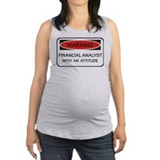 Attitude Financial Analyst Maternity Tank Top