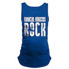 Financial Advisors Rock Maternity Tank Top