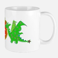 Cute Cartoon Dragons Crest Coat of Arms Mug