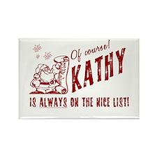 Nice List Kathy Christmas Rectangle Magnet